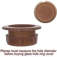 Do4U - Anillo con tapa para agujero de sombrilla, de plástico negro, 5 cm