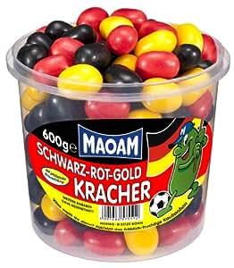 Maoam Schwarz-Rot-Gold-Kracher, 1er Pack (1 x 600 g)