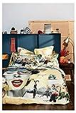 Desigual 17WLDW75 Copripiumino con Federe, Cotone, Multicolore, Matrimoniale, 200x140x1 cm