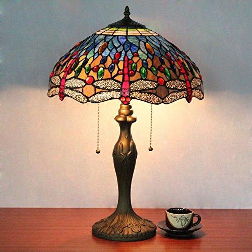 HDO 16 Zoll Pastoral Libelle Perle Tiffany Stil Tabelle Lampe Nachttisch Lampe Schreibtisch Lampe Wohnzimmer Bar Lampe -