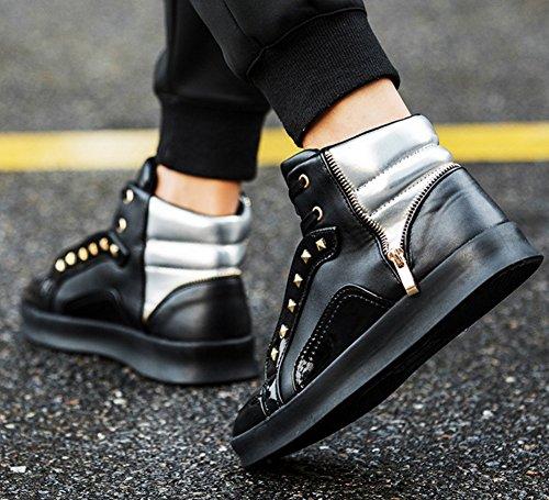 Baskets Light Hommes Automne Hiver Nouveaux Hommes Skate Shoes Noir Baskets