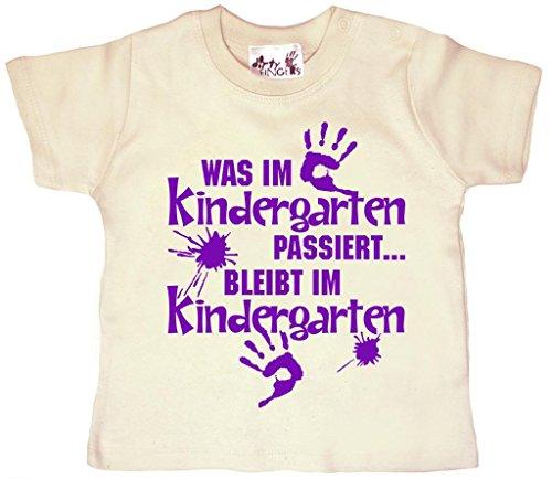 Dirty Fingers, Was im Kindergarten passiert, Baby Jungen T-shirt, 24-36m, Beige (Kinder T-shirt Passiert)