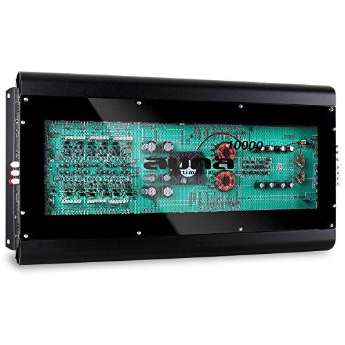 auna W1-F-10000 • Car HiFi Verstärker • 6-Kanal Auto-Endstufe • Car Amplifier • Leistung: 10000 Watt max. • MOSFET • Hoch- / Niedrigpegel-Eingänge • regelbarer Tiefpass-Filter • Frequenzbereich: 10 Hz bis 30 kHz • brückbar • 6/5/4/3/2/1-Kanal Betrieb • schwarz