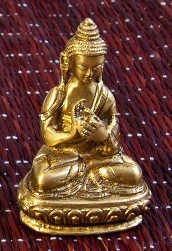 Statuen - Vairocana Buddha 7,5 cm Messing Esoterik günstig kaufen online