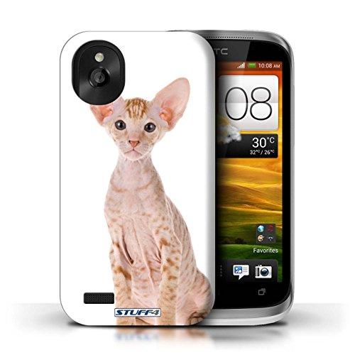 Kobalt® Imprimé Etui / Coque pour HTC Desire X / Abyssinien conception / Série Espèces de chats Peterbald