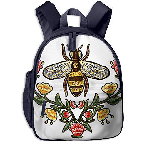 Kinderrucksack Kleinkind Jungen Mädchen Kindergartentasche Bienen Blumen Insekt 038 Backpack Schultasche Rucksack