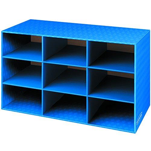 3380701 Bankers Box Klassenzimmer mit 9 Fächern, 40,6 x 71,9 cm (H x B x T) -