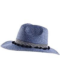 QZ HOME Sombrero De Paja Verano Viaje Gorra De Protección Solar Visor  Sombrero Grande Sombrero para El Sol Gorro De Playa… 7b0c9d74afc