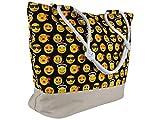 Black Out Emoji Emoticon große Shopper Tasche...Vergleich