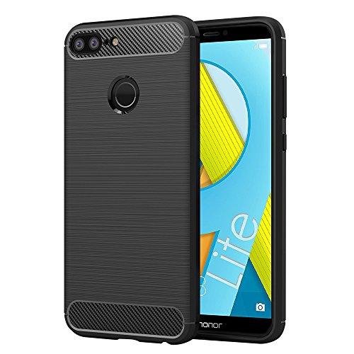 Elekin Handyhülle für Huawei Honor 9 Lite, Honor 9 Lite Hülle - Schwarz