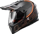 LS2Helm Motorrad MX436Pioneer Element, matt black Titanium, XL