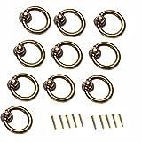 FBSHOP(TM) 10 Stück Antikes Messing Ring-Form Zink-Legierung Möbelknauf/ Möbelknopf /Türknauf /für Küchenschränke, Schränke, Kleiderschrank, Schublade, Anrichte, Möbel Hardware