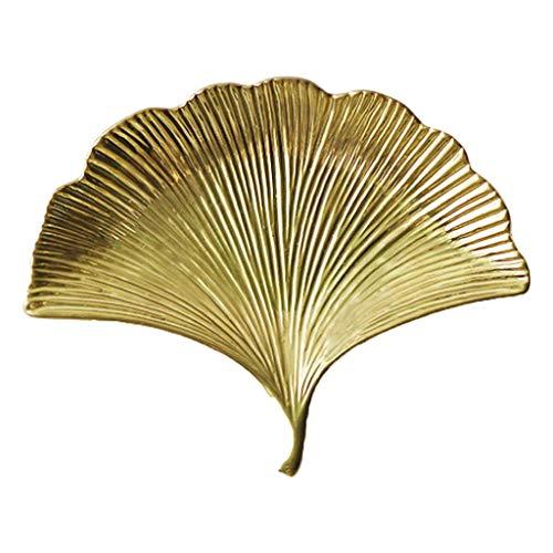 B Blesiya Obstschalen Servierplatte Schmuckteller für Nüsse Obst Schmuck - Golden