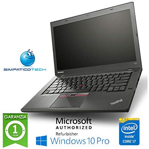Notebook Lenovo Thinkpad T450 Core i7-5600U 8Gb 500Gb 14.1' Windows 10 Professional (Ricondizionato)
