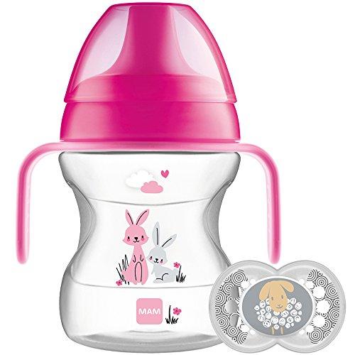 MAM Learn to drink Cup e ciuccio, 190ml, 6mesi, rosa