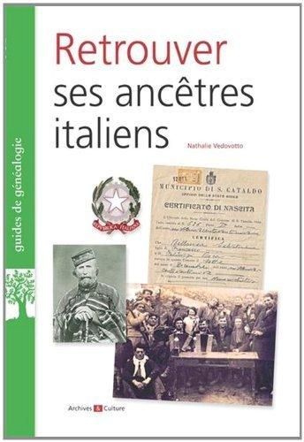 Retrouver ses ancêtres italien de Nathalie Vedovotto (30 décembre 1999) Broché