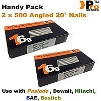 mixte pratique Packs–quantité 1000BRAD/Nails16Jauge inclinées pour Paslode, Dewalt