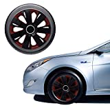 Oshotto OSHO-WC51BBL 14-inch Black Double Paint Finish Universal Fitting-Push Type Car Wheel Cover