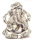 AnD ArtVilla Traditional Jaipur Rajasthani Antique Preciously Handcrafted Silver Coloured Beautiful Lord Pagdi Ganesha Auspicious and Unique Decorative gift purpose showpiece 3 inch