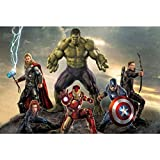 Puzzle Jigsaw di 300/500/1000 Pezzi, Poster di Film Marvel Hulk, The Avengers Captain America Comics A525 (Colore : C, Dimensioni : 1000pc)