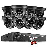 SANNCE 8CH 1080N HD-TVI Kit CCTV Vidéosurveillance ONVIF Enregistreur DVR 8 Caméras AHD 720P 1.0MP Etanches pour l'Extérieur Vision Nocturne Détection de Mouvement Alerte par Mail 1TB Surveillance HD