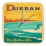 Wanduhr Urlaub Reisebüro Deko Durban Südafrika Strand Surfer Acryl Wanduhr Retro