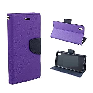 Online Street Quality Flip Cover For Motorola Moto G2 - (Orchid Purple)