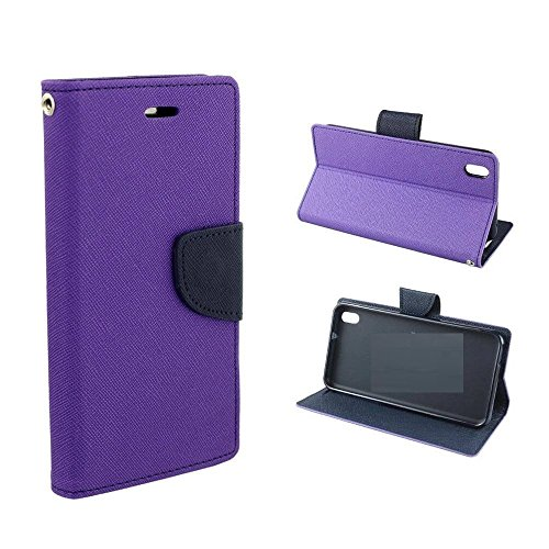 Online Street Quality Flip Cover For Sony Xperia C /S39H - (Orchid Purple)  available at amazon for Rs.189