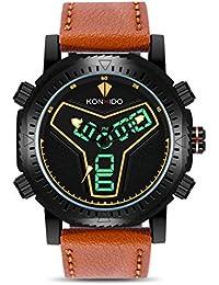 Reloj deportivo KONXIDO Sport Series para hombre con retroiluminación EL Reloj analógico y correa de lujo