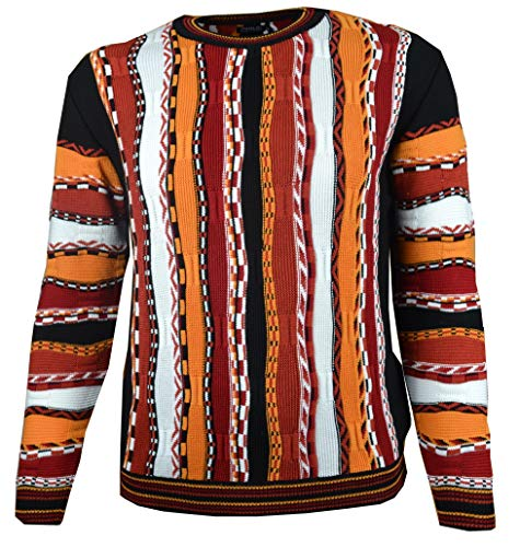 Paolo Deluxe Sweater Modell Lorenzo mit weiß (L) - Deluxe Pullover