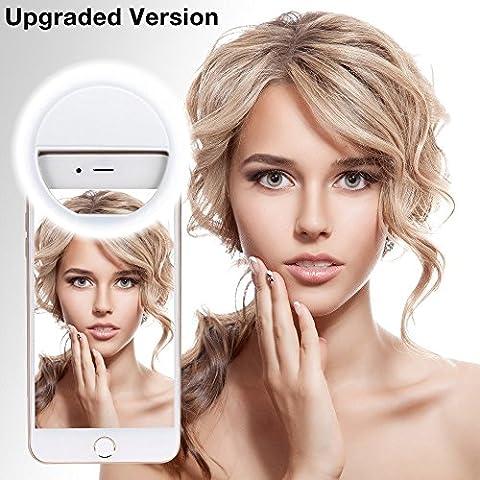 Selfie Ring Light, NEWNET Selfie Anneau lumineux 3niveaux de luminosité