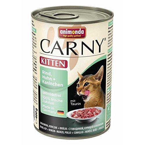 Animonda | Carny Kitten Rind, Huhn + Kaninchen | 6 x 400 g