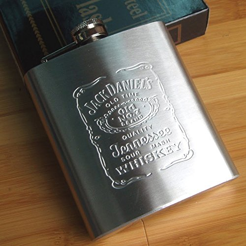 SOSA Stainless steel Jack daniels Hip Flask Alcoholic Beverage Holder  available at amazon for Rs.199