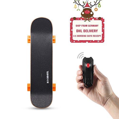 Koowheel Skateboard Eléctrico D3S Monopatín 4 Ruedas Súper Velocidad 30km/h con Teledirigida (Naranja)