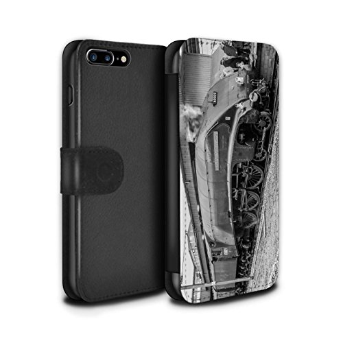 Stuff4 Coque/Etui/Housse Cuir PU Case/Cover pour Apple iPhone 8 Plus / Flying Scotsman Design / Locomotive Vapeur Collection Union South Africa