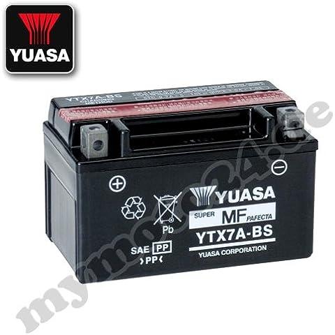 Batería Yuasa YTX7A-BS de BS, 12V/6ah (tamaño: 150x 87x 94)