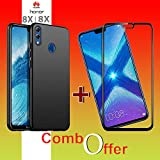 Goelectro Honor 8X Cases Accessories (Combo Offer) 360 Degree Protection 4 Cut Hard Back Cover New For Honor 8X + Edge To Edge Honor 8X Tempered Gorilla Glass Combo Screen Guard (Black)