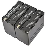 2pcs Masione Replacement Battery for Sony NP-F550,NP-F970,NP-F750, NP-F330,NP-F770,NP-F960, NP-F530, NP-F570