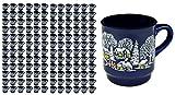 144er Set Van Well Glühweinbecher blau mit Motiv und Eichstrich