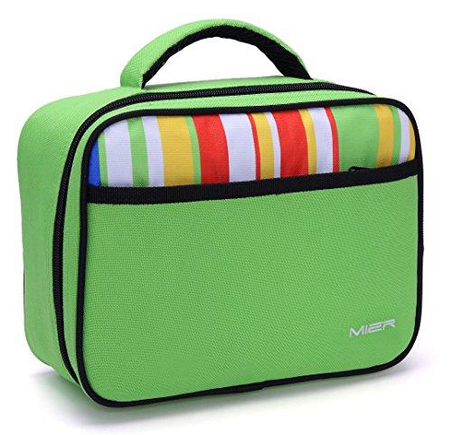 Mier piccolo panino fresco bag bambini pranzo borsa termica tote pranzo per ragazzi e ragazze, verdi