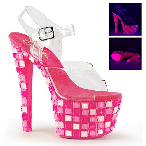 Pleaser SKY-308UVTL Clr/Neon H. Pink