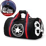 Canvas Damen Reisetasche Yoga Gym Bag Men Sport Pack Einheitsgröße Schwarz