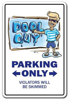 """Warnschild """"Dropping Kids Off at The Pool"""", für drinnen und draußen, 30,5 cm hoch 7\"""" X 10\"""" Aluminum Sign Poolguy"""