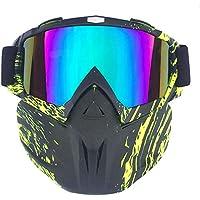 KnBoB Ski Maske Wei/ß Motorradbrillen Brillentr/äger Schneemaske Damen