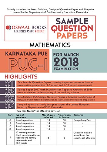Oswaal karnataka pue sample question papers for puc i maths march oswaal karnataka pue sample question papers for puc i maths march 2018 exam by malvernweather Choice Image