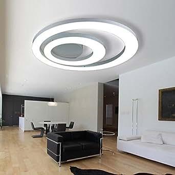 led 2 ringe deckenleuchte leuchte modern elegant wohnzimmer deckenlampe wei rund acryl. Black Bedroom Furniture Sets. Home Design Ideas