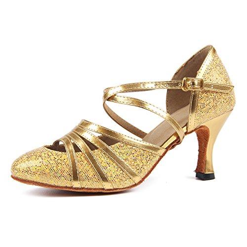 Syrads Zapatos de Baile Latino para Mujer Sandalia de Salsa de Salón