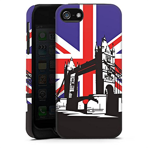 Apple iPhone X Silikon Hülle Case Schutzhülle London Großbritannien Tower Bridge Tough Case matt