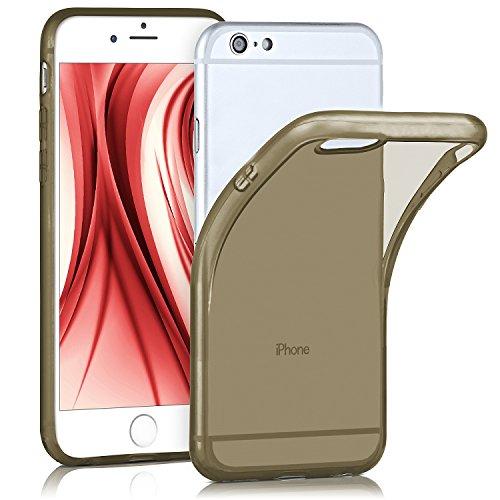iPhone 6S Hülle Silikon Transparent [OneFlow Frosted Back-Cover] Stoßfeste Schutzhülle Türkis Handy-Hülle für iPhone 6/6S Case Dünn Silikonhülle Tasche ANTHRACITE-GRAY