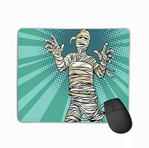 Mouse pad vintage egyptian mummy horror movie halloween pop art retro vector illustration steelserieskeyboard